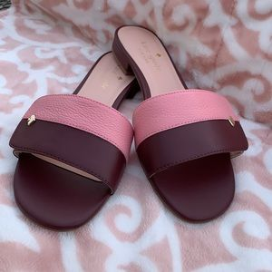 NWT! Kate Spade CAFE Pink and Burgundy Sandals.